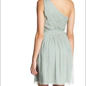 J crew Kylie size 6 dusty shale one shoulder dress
